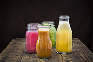 Four glasses of different smoothies - LVF003610