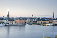 Sweden, Stockholm, view from Soedermalm to the old town - MSF004668