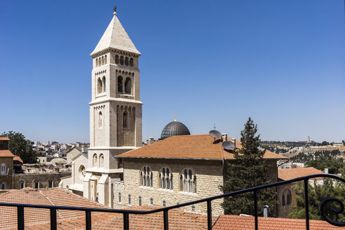 Israel, Jerusalem, View to Cathedral of Christ the Saviour, Christiane quarter - WEF000356