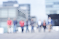 Group of people on bridge, blurred - GUFF000128