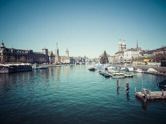 Switzerland, Zurich, Cityscape, View to Limmat river - KRPF001523