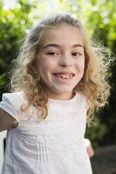 Portrait of smiling little girl - RAEF000230