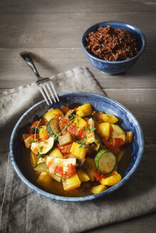 Ratatouille with red wholegrain rice - EVGF001903