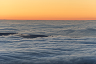 Germany, Saxony-Anhalt, cloud cover above Harz National Park at sunset - PVCF000450