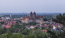 Germany, Quedlinburg, view to the city in the evening - PVCF000452