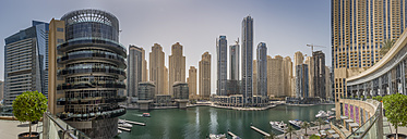 UAE, Dubai, panoramic view of Dubai Marina - NKF000301