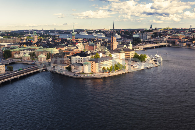 Sweden, View towards Gamla Stan, the central and old town island of Stockholm - ZMF000409