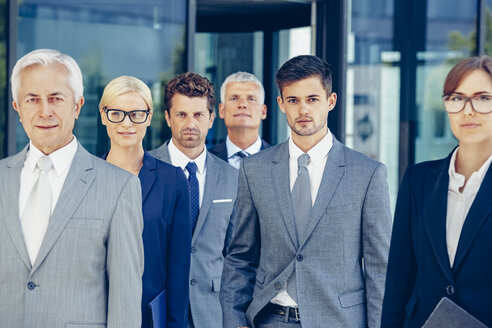 Portrait of team of corporate professionals - CHAF000382
