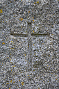 Symbol of Christianity carved in granite - AX000763