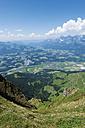Austria, Tyrol, St. Johann, view into the valley on Wilder Kaiser - VIF000343