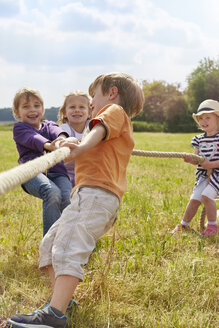 Children playing on a meadow - STKF001341