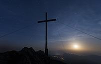 Austria, Tyrol, summit at full moon - MKFF000236