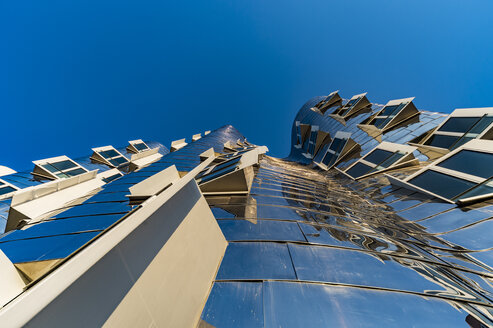 Germany, North Rhine-Westphalia, Duesseldorf, New Zollhof, Facade of Gehry House, low angle view - FR000289