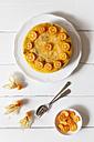 Mango passion fruit cake decorated with slices of kumquat - EVGF001923