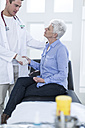 Senior woman doing check up at the doctor's - ZEF006726