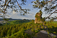 Germany, View to Palatinate Forest, rock formation - FDF000126