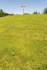 Austria, Kitzbuehel, crucifix on a hill - VIF000349