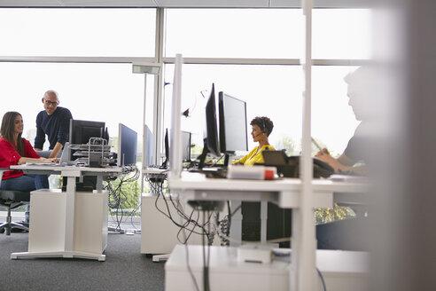 Colleagues working in open-plan office - RHF000947