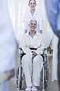 Nurse with elderly female patient in wheelchair - ZEF006809