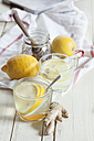 Hot lemon-ginger infusion with honey - SBDF002176