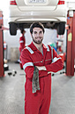 Car mechanic at work in repair garage - ZEF006967