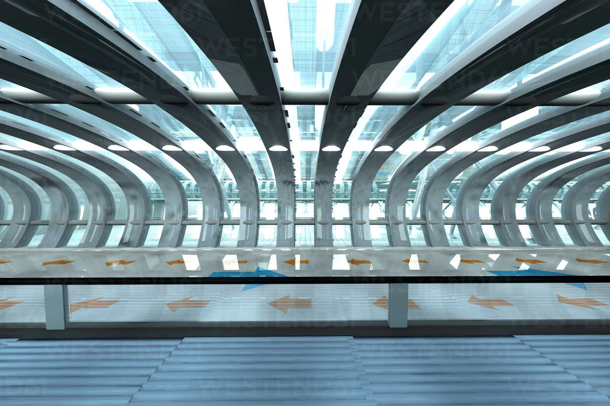 Futuristic subway or train station, 3D Rendering - SPCF000059 - Spectral/Westend61