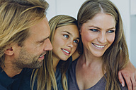 Portrait of smiling father, mother and daughter - CHAF000858