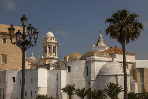 Spain, Cadiz, candelabrum, architecture and palm - HCF000135