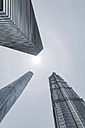 China, Shanghai, Jin Mao Building, World Financial Center and Shanghai Tower - NKF000330