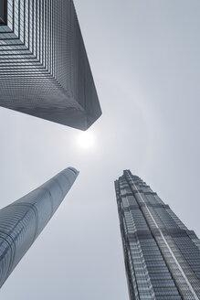 China, Shanghai, Jin Mao Building, World Financial Center and Shanghai Tower - NKF000330