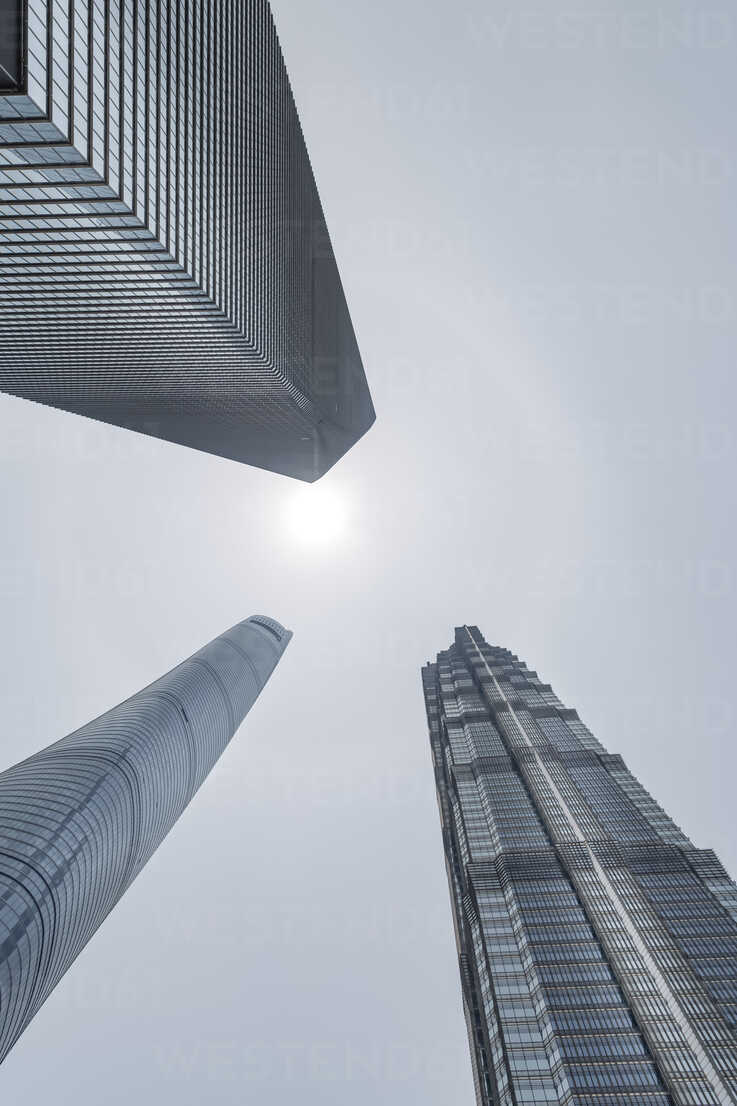 China, Shanghai, Jin Mao Building, World Financial Center and Shanghai Tower - NKF000330 - Stefan Kunert/Westend61