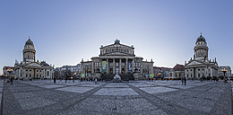 Germany, Berlin, panoramic view of Gendarmenmarkt in the evening - PVCF000481