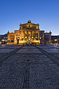 Germany, Berlin, view to lighted concert hall at Gendarmenmarkt in the evening - PVC000482