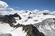 Austria, Tyrol,  Ötztal Alps, Pitz valley, View to Wildspitze - MKFF000244