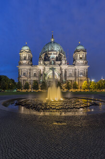 Germany, Berlin, Berlin Cathedral in the evening - PVCF000484