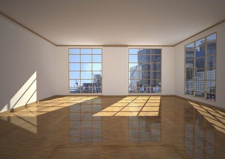 Empty apartment in a city, 3d illustration - ALF000585