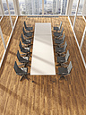 Modern conference room with parquet, 3D Rendering - UWF000580