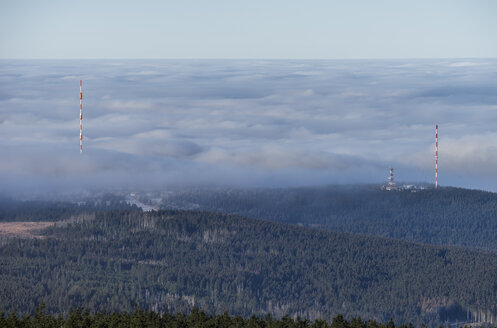 Germany, Saxony-Anhalt, Harz National Park, atmospheric inversion - PVCF000519