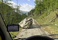 Italy, Piemont, rockfall in Vall de Marmora - LAF001451