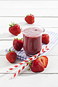 Glass of strawberry smoothie - CSF025973