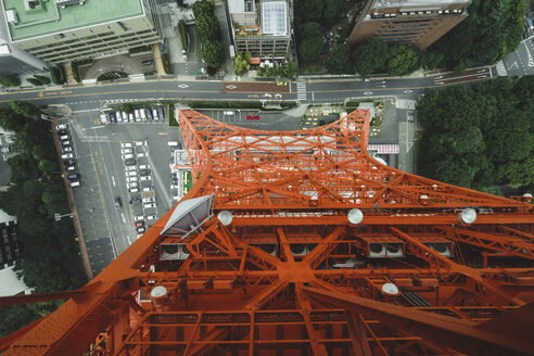 Japan, Tokyo, view down from Tokyo tower - FL001214