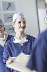 Doctors discussing in hospital - ZEF007309