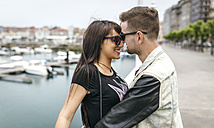 Spain, Gijon, young couple in love - MGOF000397