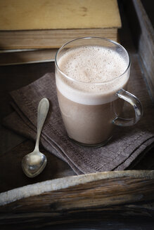 Glass of vegan hot chocolate - EVGF001993