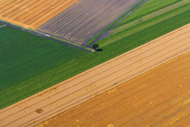 Germany, Bavaria, View of fields, aerial view - PEDF000111