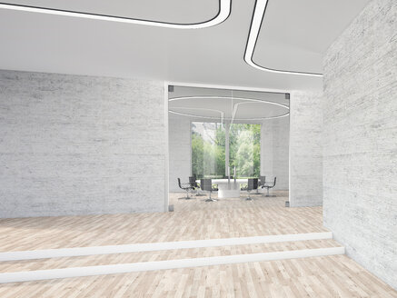 Modern conference room, 3D Rendering - UWF000587