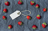 Fresh strawberries and label - ODF001192