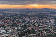 Germany, aerial view of Halberstadt in the evening - PVCF000543