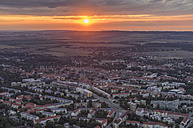 Germany, aerial view of Halberstadt by sunset - PVCF000568