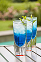 Fresh cocktail with blue curacao liquer - JUNF000401